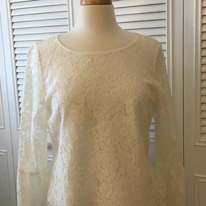 Vince Camuto Lace long sleeve shirt